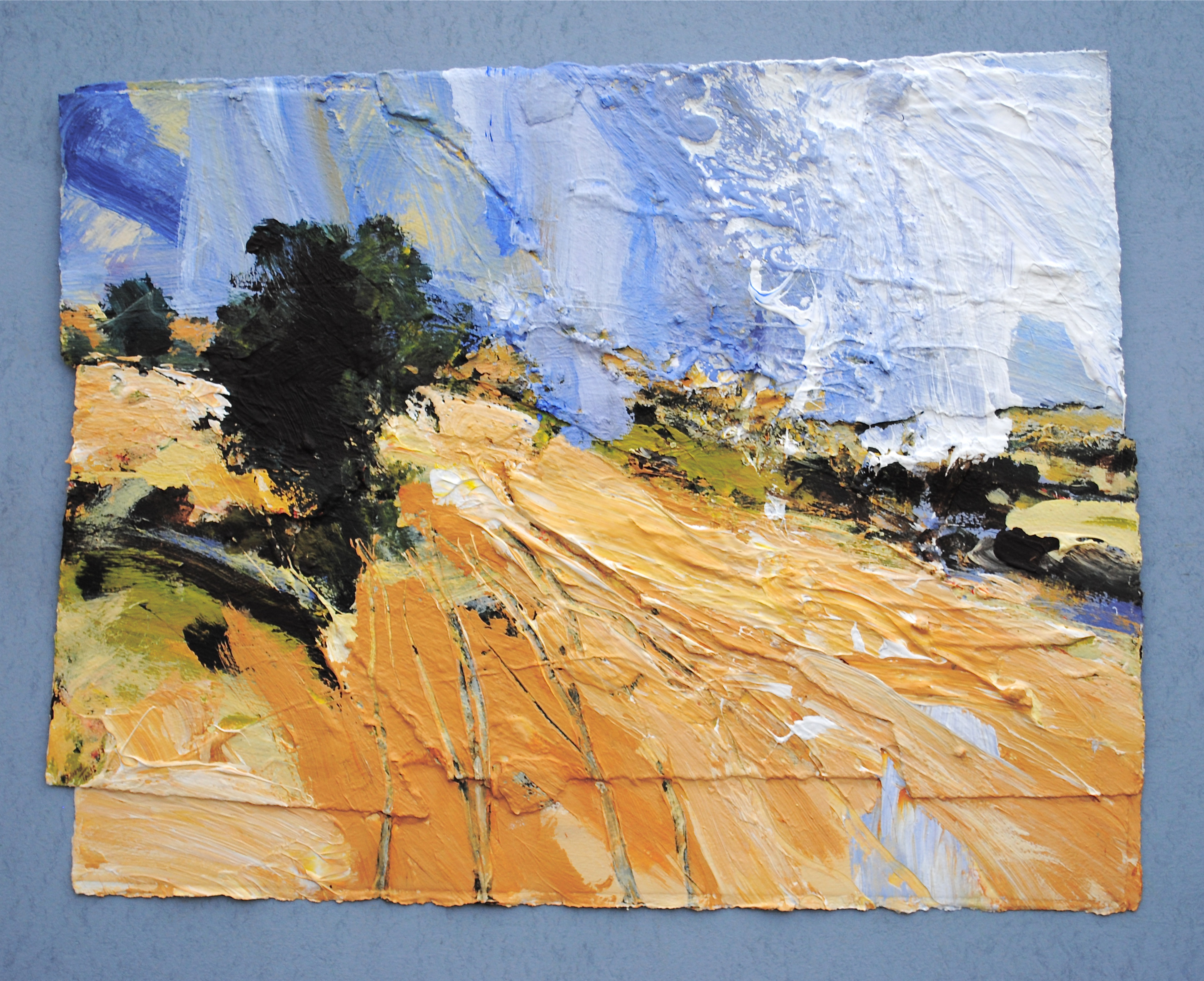 David-Tress-English-Harvest-Landscape-II-mixed-media-on-paper-48x61cm-2015