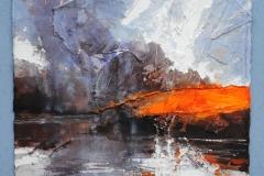 David-Tress-A-Moment-of-Sun-Beinn-Bhan-mixed-media-on-paper-31x39cm-2015