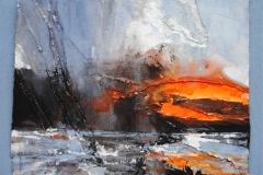 David-Tress-Beinn-Bhan-Sun-Striking-mixed-media-on-paper-31x39cm-2015