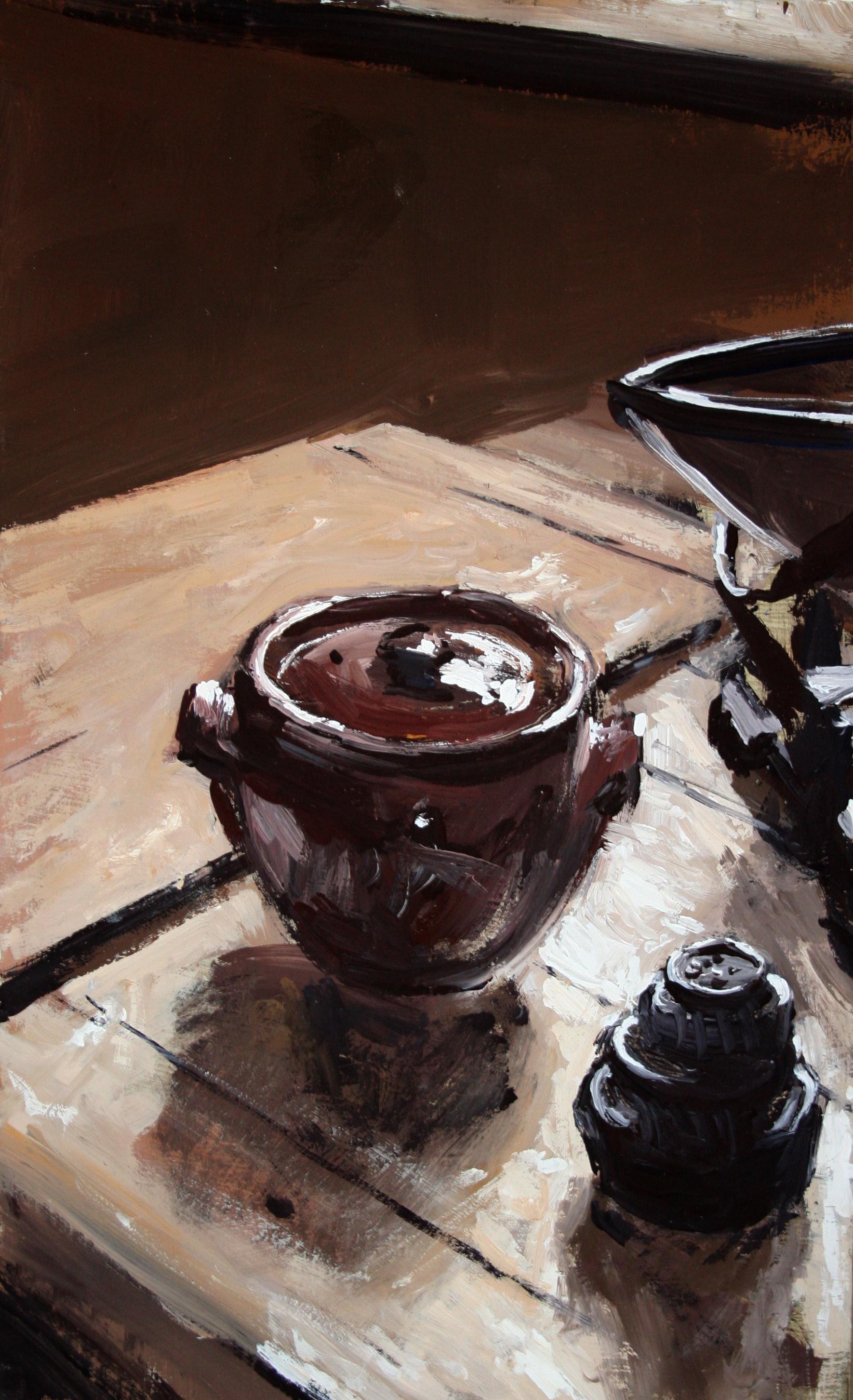 Ceramic pot.
